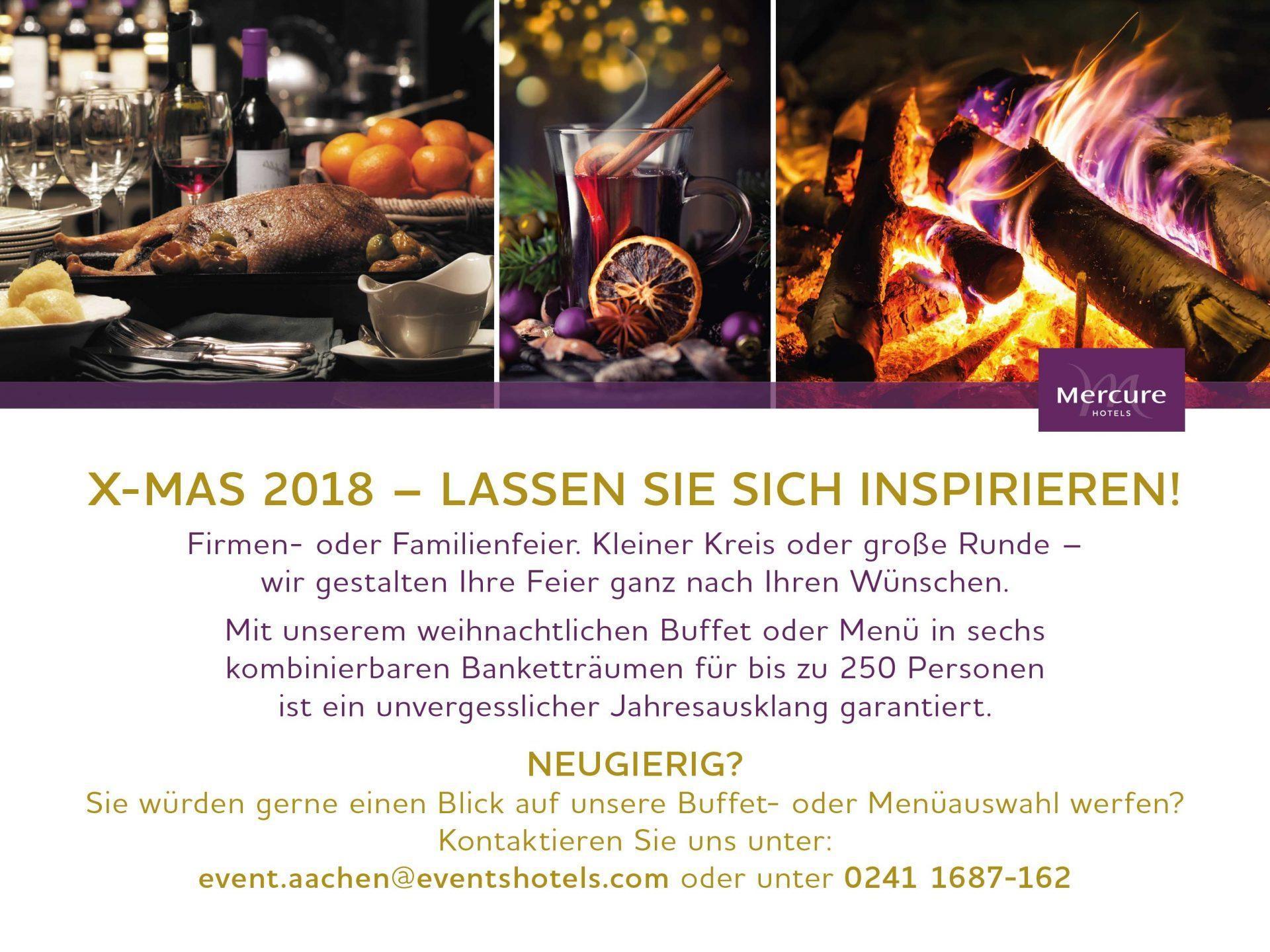 Weihnachtsfeier in Aachen Flyer - Mercure Aachen Europaplatz